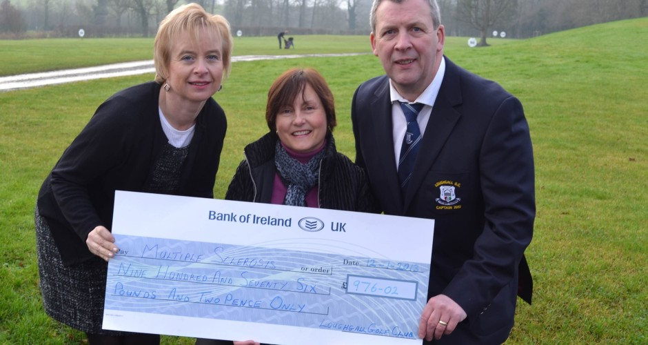 Captain's Charity Presentation to Armagh and District Multiple Sclerosis Support Group – £976.02