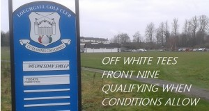 This weeks fixtures – WEDNESDAY SWEEP starts 4th May – Saturday Club Stableford – Points