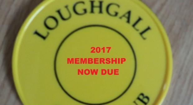 2017 Membership fees due