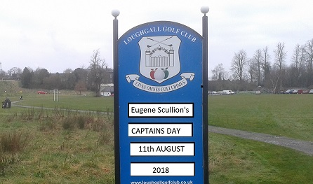 Eugene Scullion's CAPTAIN'S DAY – 11TH AUGUST 2018