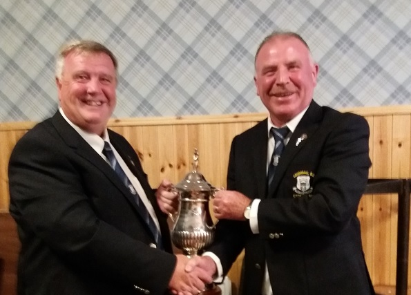 CAPTAINS DAY – Eddie Millar lifts the cup