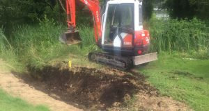 Work on 18th Fairway begins – drains being filled in