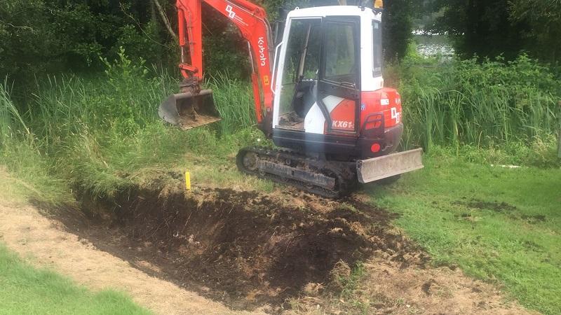 Work on 18th Fairway begins – drains being filled in