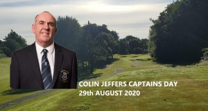 Colin Jeffers – Captains Day 29th August 2020
