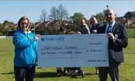 Colin Jeffers – Captain 2020 – Presents Charity cheque to Portadown Panthers